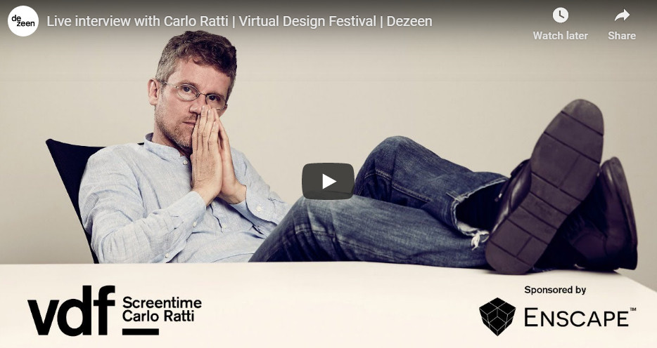 Live interview with Carlo Ratti at the Virtual Design Festival by Dezeen