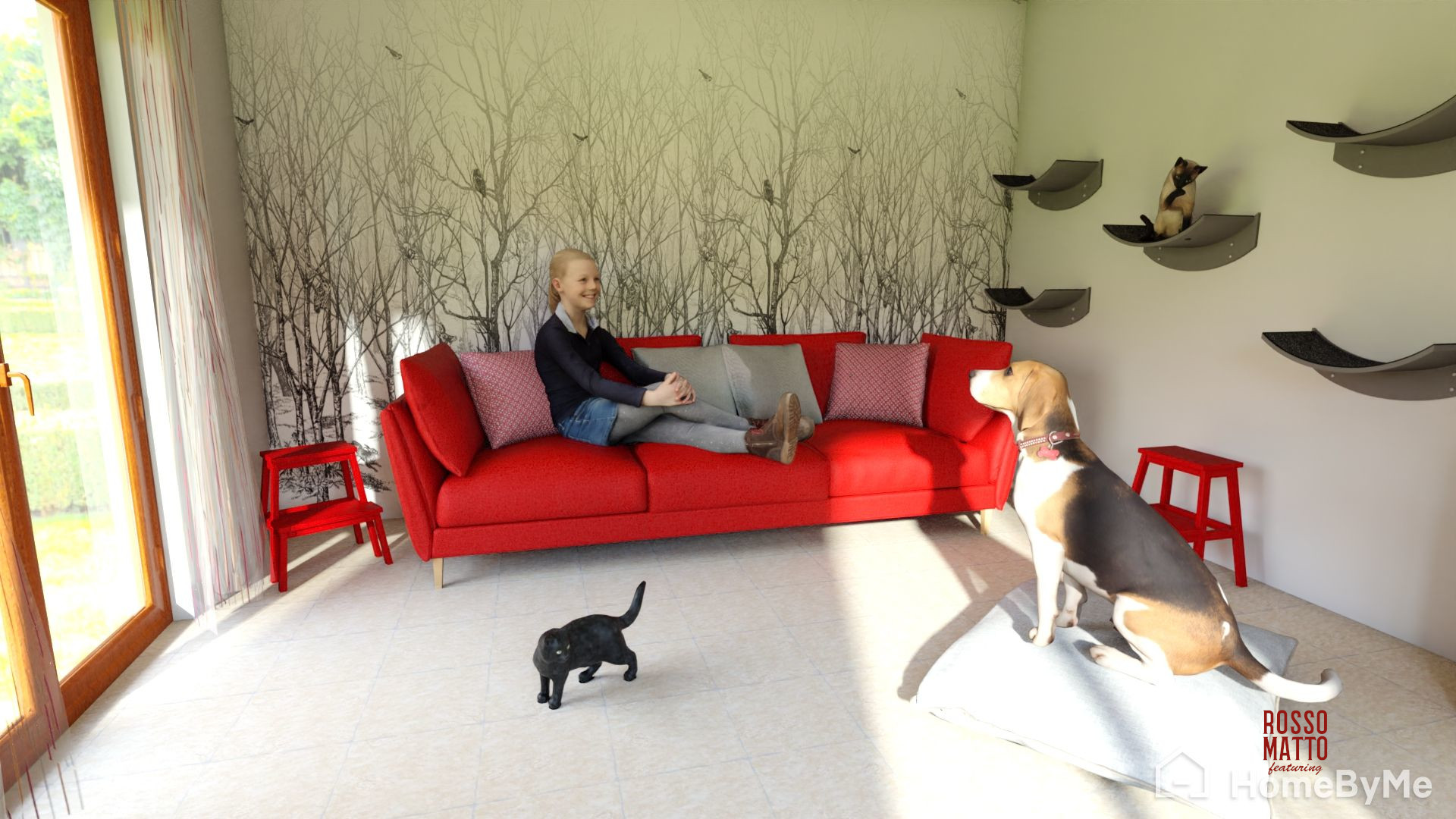 Pet-friendly livingroom