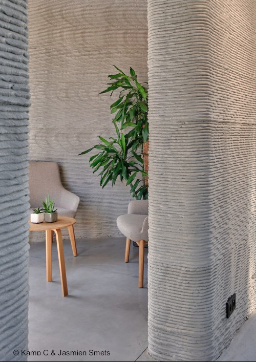 First two-storey 3D printed house in Europe - Interior